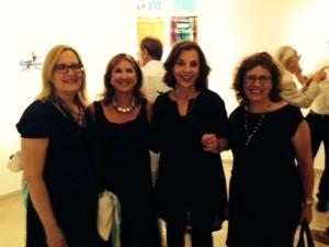 From left: Cyd Weisman, Rabbi Lynnda Targan, Artist Mindy Weisel, and Evie Rotstein