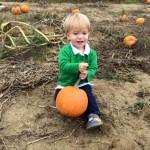 Darren with his pumpkin